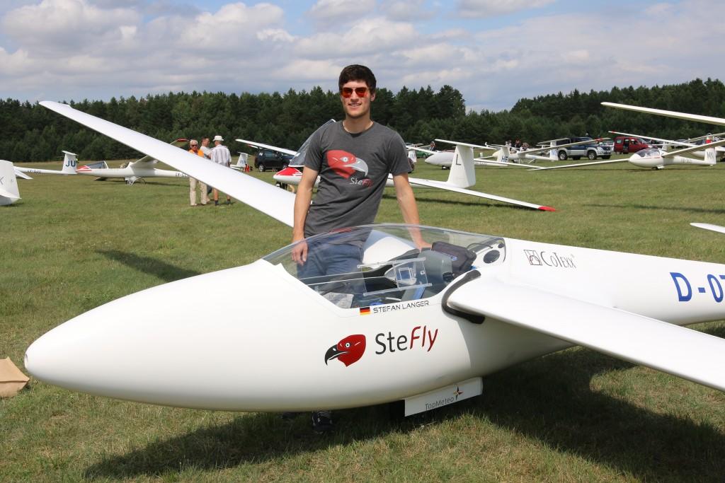 SFG-Nachwuchspilot Stefan Langer liegt bei der Segelflug-Junioren-Weltmeisterschaft in Litauen derzeit auf Rang fünf. Foto: privat
