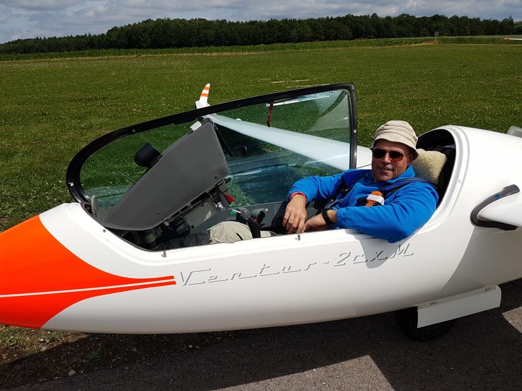 Wolfgangs Köckeis liefert regelmäßig schnelle Bundesliga-Flüge ab. Am vergangenen Wochenende war er der zweitschnellste SFG-Pilot. Foto: Zembold