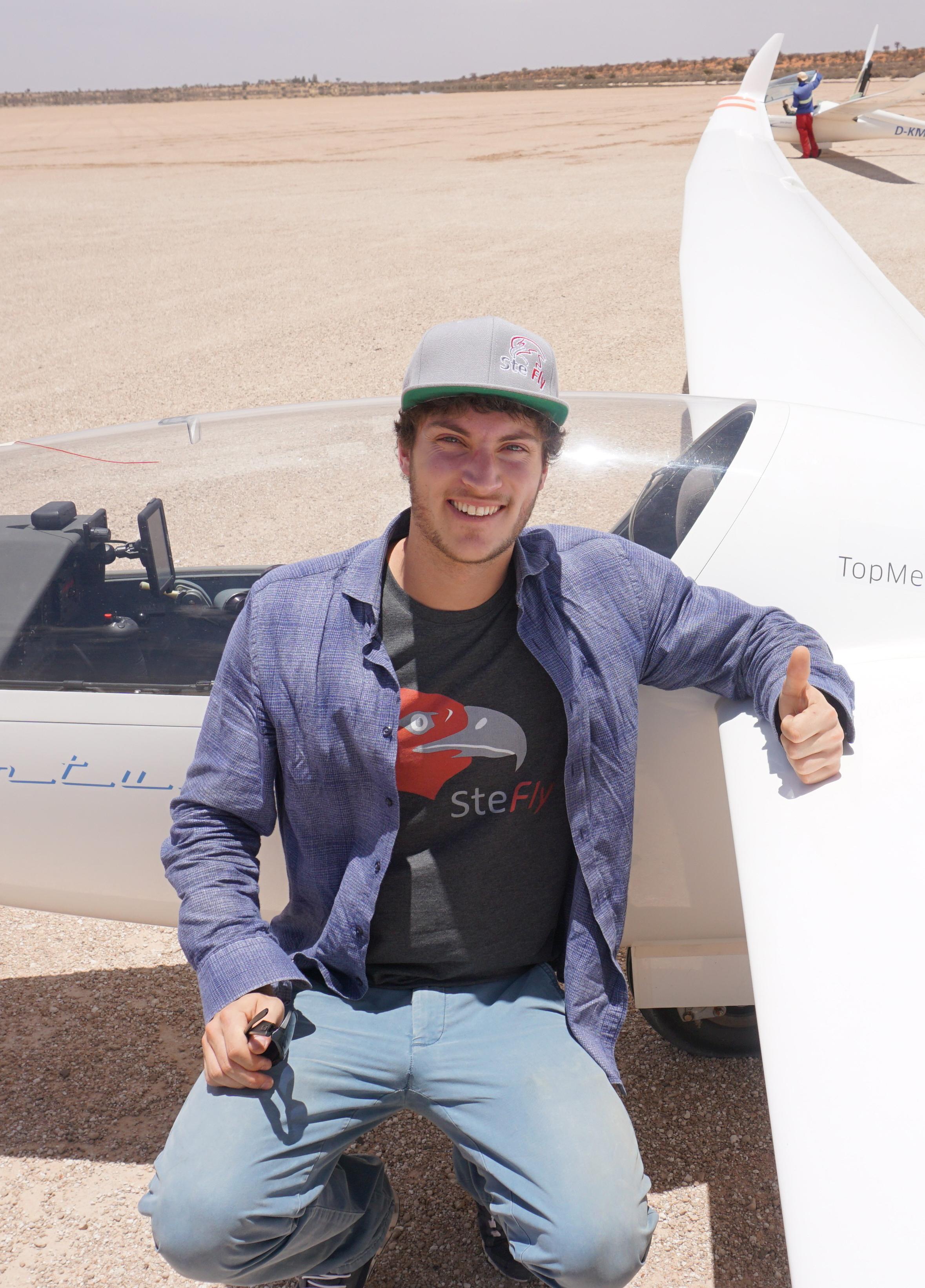 Stefan Langer startet ab dem kommenden Wochenende bei der Junioren-Segelflug-Weltmeisterschaft in Litauen. Foto: privat